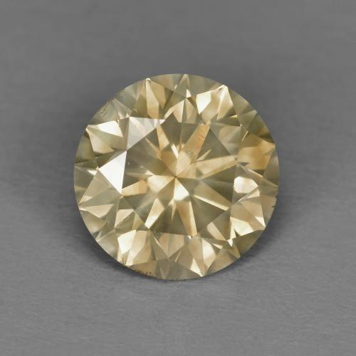 1.81 ct Diamond-Cut Fancy Champagne Diamond Gemstone 7.66 mm  (Product ID: 378645)