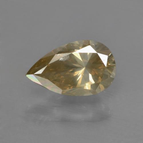 Golden Brown Diamond Gem - 1ct Pear Facet (ID: 378647)