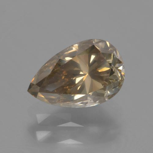 Golden Brown Diamond Gem - 1.3ct Pear Facet (ID: 382046)