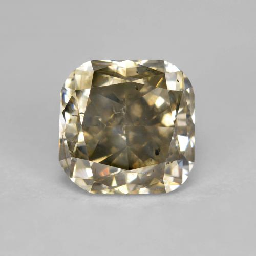 Champagne Diamond Gem - 1.9ct Cushion-Cut (ID: 382047)