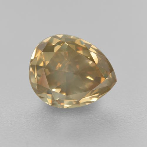 1.98 ct Pear Facet Champagne Diamond Gemstone 7.81 mm x 6.4 mm (Product ID: 382056)