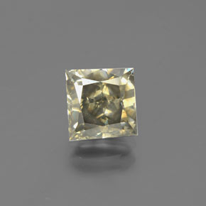 Champagne Diamond Gem - 2.1ct Square / Scissor Cut (ID: 382090)