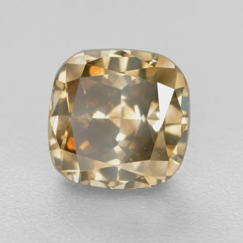 Golden Brown Diamond Gem - 1.5ct Cushion-Cut (ID: 382116)