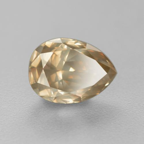Cognac Diamond Gem - 1.8ct Pear Facet (ID: 382117)