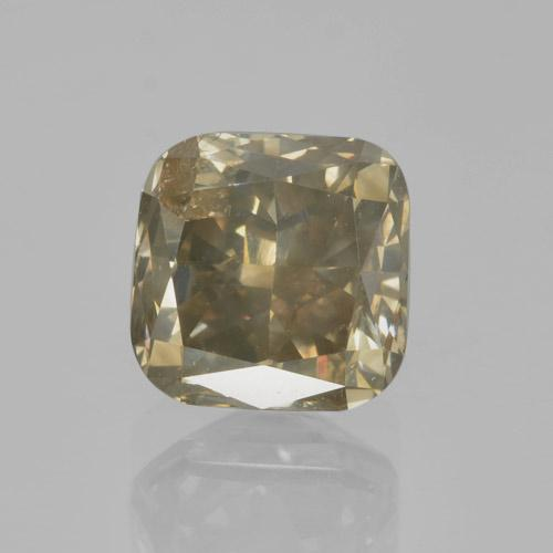 Dark Champagne Diamond Gem - 2ct Cushion-Cut (ID: 460458)