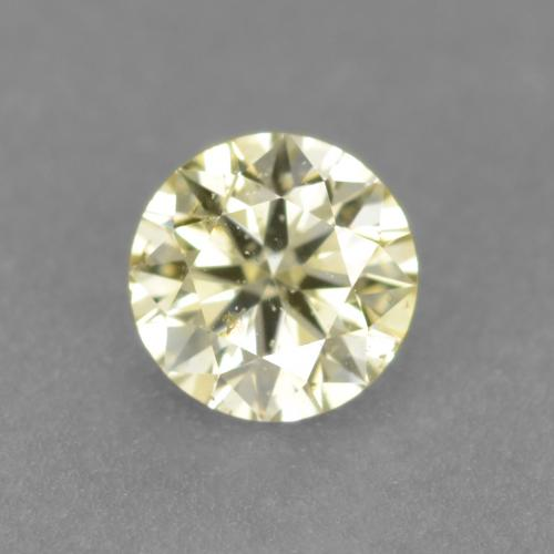 Lemon Yellow Diamante Gema - 0.1ct Corte Diamante (ID: 543899)