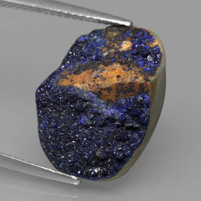 Blue Druzy Azurite Gem - 10.9ct Fancy Crystal Cluster (ID: 433647)