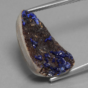 9.2ct Fancy Crystal Cluster Blue Druzy Azurite Gem (ID: 434136)