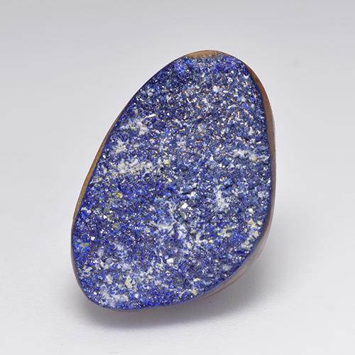 13.4ct Regroupement de Cristaux Fantaisie Light Blue Grey Druzy Azurite gemme (ID: 529678)