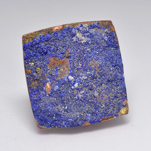 15.81 ct Regroupement Baguette de Cristal Greyish Blue Druzy Azurite gemme 18.66 mm x 18 mm (Photo A)