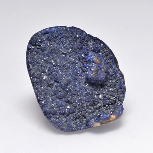 13.6ct Fancy Crystal Cluster Deep Navy Blue Druzy Azurite Gem (ID: 529683)