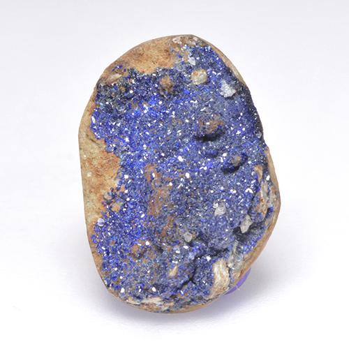 7.94 ct Fancy Crystal Cluster Light Blue Grey Druzy Azurite Gemstone 17.59 mm x 12.7 mm (Product ID: 529693)