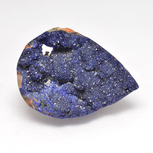 6.61 ct Cluster di cristallo taglio pera Deep Navy Blue Azzurrite druzy Gem 16.36 mm x 11.6 mm (Photo A)