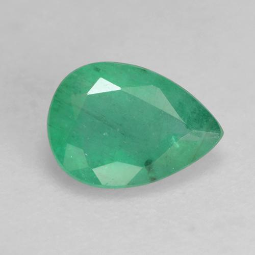 Green Emerald Gem - 0.6ct Pear Facet (ID: 243564)
