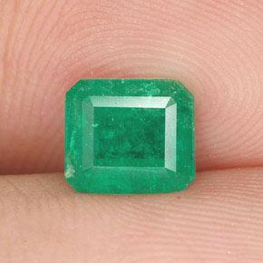 0.80 ct Octagon Step Cut Jade Green Emerald Gemstone 6.15 mm x 5.5 mm (Product ID: 252896)