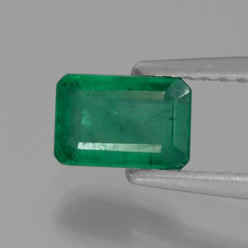 0.6ct Octagon Facet Warm Green  Emerald Gem (ID: 291393)