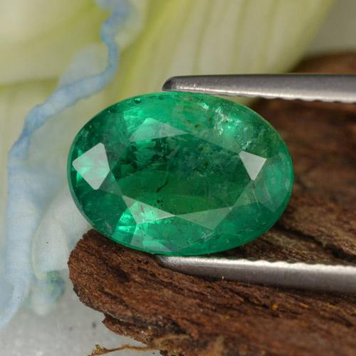 1.8ct Oval Facet Deep Green  Emerald Gem (ID: 299237)