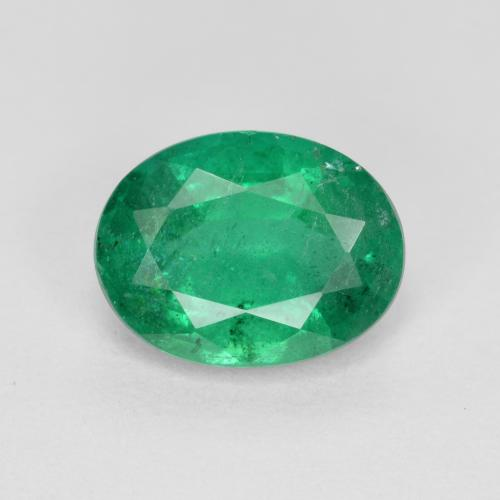 1.6ct Oval Facet Forest Green  Emerald Gem (ID: 299260)