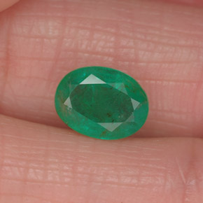 Buy 1.25 ct Green Emerald 8.07 mm x 6.1 mm from GemSelect (Product ID: 319519)