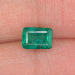 0.7ct Octagon Facet Medium Deep Green Emerald Gem (ID: 341673)