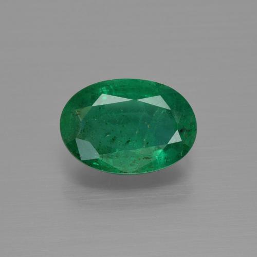 1.4ct Oval Facet Medium Green Emerald Gem (ID: 342003)