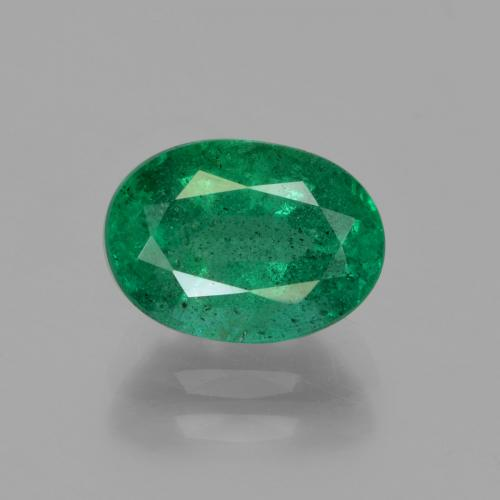 1.8ct Oval Facet Medium Green Emerald Gem (ID: 342006)
