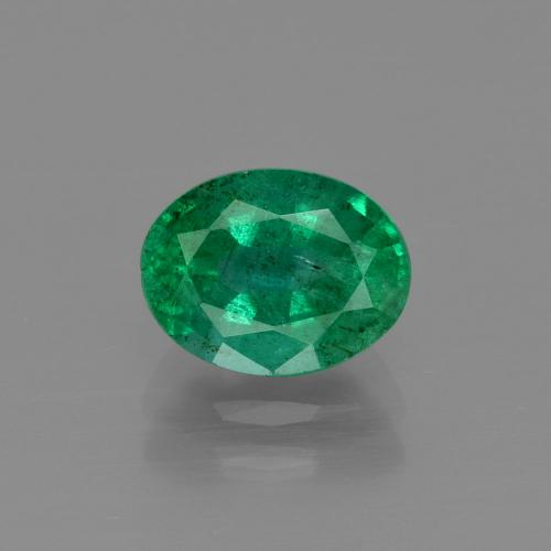 1.6ct Oval Facet Medium Green Emerald Gem (ID: 342010)