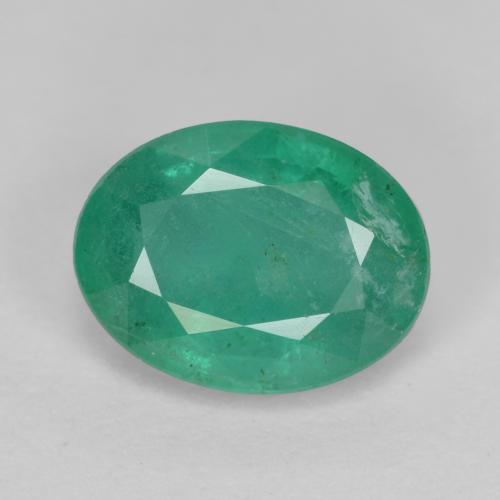 1.1ct Oval Facet Jade Green Emerald Gem (ID: 342158)