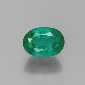 1.6ct Oval Facet Medium Green Emerald Gem (ID: 369560)