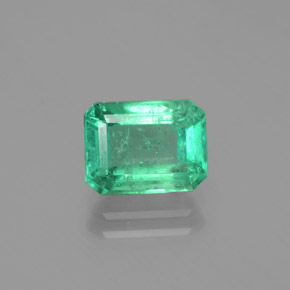 2.1ct Octagon Facet Jade Green Emerald Gem (ID: 380134)