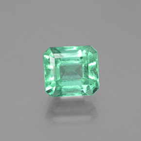 Cool Emerald Green 祖母绿 Gem - 2.3ct 八角切面 (ID: 380135)