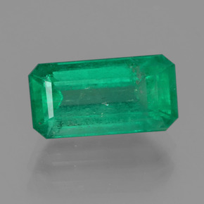 2.1ct Octagon Facet Medium Deep Green Emerald Gem (ID: 380136)