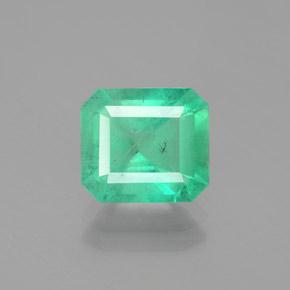 2.7ct Octagon Facet Bright Green Emerald Gem (ID: 380137)