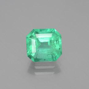 2.2ct Octagon Facet Light Green Emerald Gem (ID: 380138)