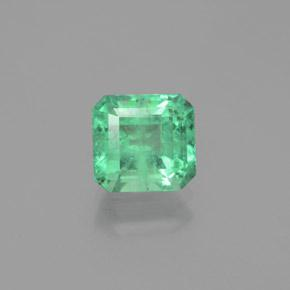 1.7ct Octagon Facet Electric Green Emerald Gem (ID: 380140)