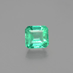 1.4ct Octagon Facet Cool Green Emerald Gem (ID: 380144)