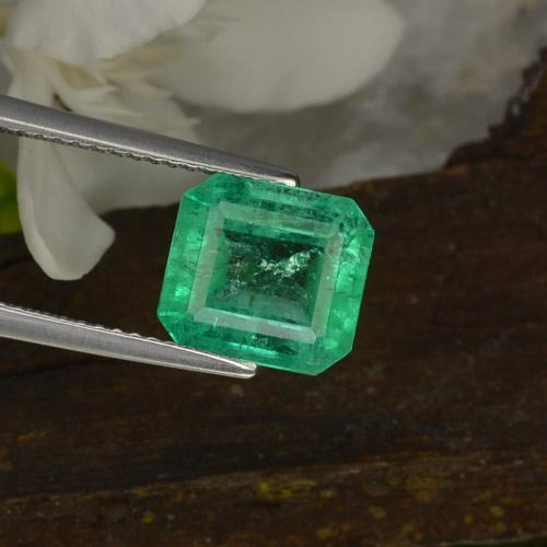 2.96 ct Octagon Stufenschliff Warm Green Smaragd Edelstein 9.26 mm x 8.5 mm (Product ID: 403013)