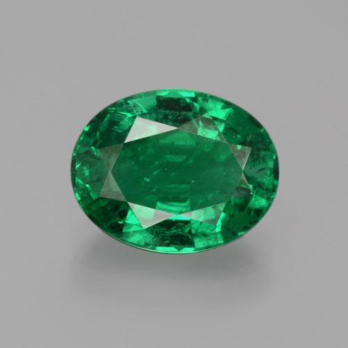Green Emerald Gem - 2.5ct Oval Facet (ID: 403272)