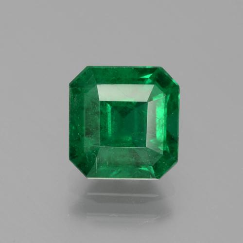 1.65 ct Octagon Facet Dark Green Emerald Gemstone 7.41 mm x 7.2 mm (Product ID: 403273)