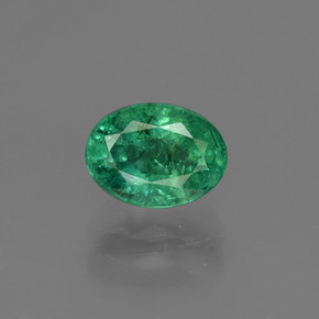 0.95 ct Oval Facet Green Emerald Gemstone 7.07 mm x 5.2 mm (Product ID: 410000)