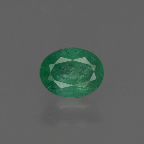 0.6ct Oval Facet Warm Green Emerald Gem (ID: 410189)