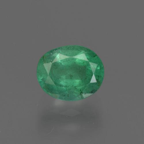 1ct Oval Facet Medium Green Emerald Gem (ID: 410194)