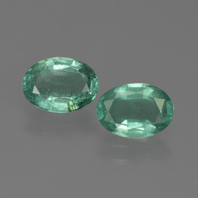 0.7ct Oval Facet Blue Green Emerald Gem (ID: 411887)