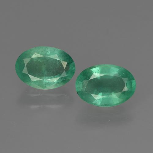 0.7ct Oval Facet Jade Green Emerald Gem (ID: 411889)