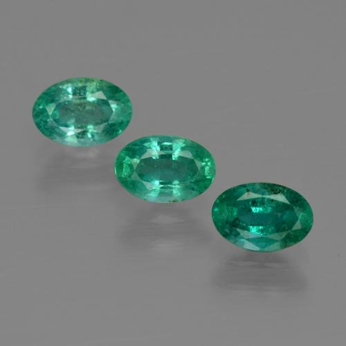 0.5ct Oval Facet Cool Green Emerald Gem (ID: 411962)