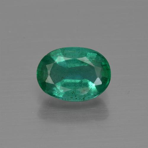 1.2ct Oval Facet Medium Green Emerald Gem (ID: 412019)