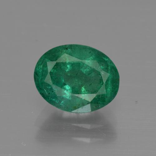 1.8ct Oval Facet Medium Emerald Green Emerald Gem (ID: 412020)