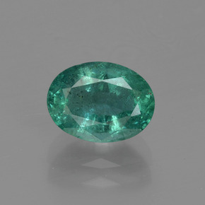1.50 ct Oval Facet Green Emerald Gemstone 8.20 mm x 6.1 mm (Product ID: 412023)