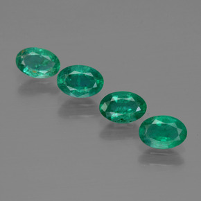 0.4ct Oval Facet Blue Green Emerald Gem (ID: 412074)