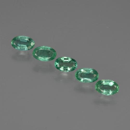 0.2ct Oval Facet Blue Green Emerald Gem (ID: 412126)